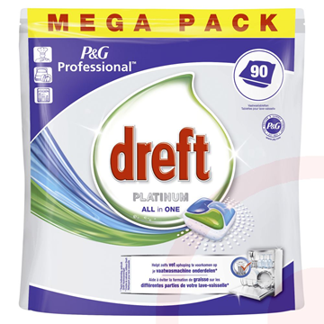 Dreft All in 1 platinum / pak à  3 x 90 stuks