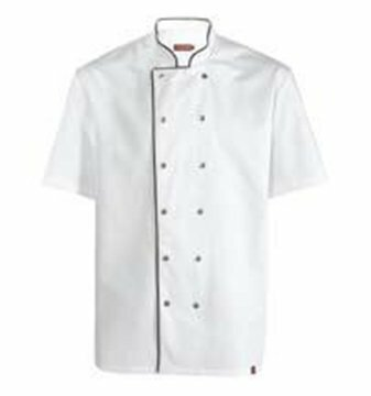 Gattinara heren koksjas white and black piping maat XXXL (68)