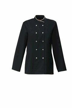 Cesena dames servicejas black and sand piping maat XXL (56)