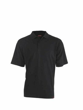 Leandro herenpolo black (regular fit) maat S