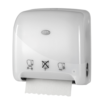 Clean2win White Autocut Mini Matic XL handdoekroldispenser (431109)