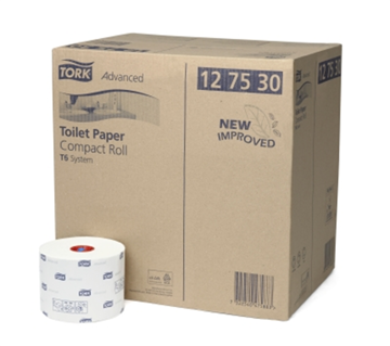 Tork Advanced Toilet Paper Compact Roll Auto Shift 2-laags 27 rollen (127530)