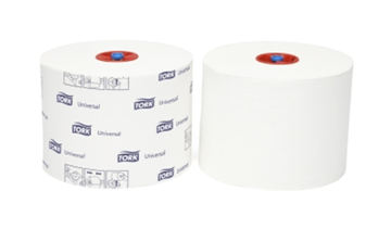 Tork Advanced Toilet Paper Compact Roll Auto Shift 1-laags 27 rollen