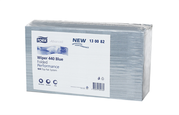 Tork Advanced Wiper 440 Folded Blue Performance 3-laags 500 stuks